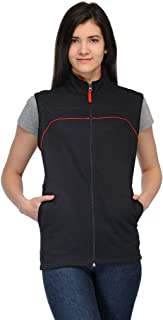 Scott International Sleeveless Jacket Women's withzip Black