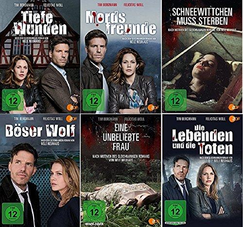 Nele Neuhaus 6 x Filme Paket u.a. Mordsfreunde, Tiefe Wunden, Eine unbeliebte Frau ... [DVD Set]