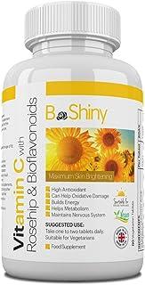 Vitamina C 1000mg blanqueamiento de la piel con caderas de rosa y bioflavonoides Suplemento de apoyo inmunológico tabletas antioxidantes envejecimiento saludable construye energía y bienestar general