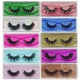 False Eyelashes Mikiwi 10 Pack Lahes, 12-20mm Wholesale 5D Fake Mink lashes, Fuffy Natural Volume eye Lashes, individual package Faux Mink EyeLashes
