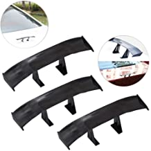 Creatiee 3Pcs Universal Car Mini Spoiler Wing, Auto Car Tail Wing Mini Auto Carbon Fiber Texture Decoration Without Perfor...