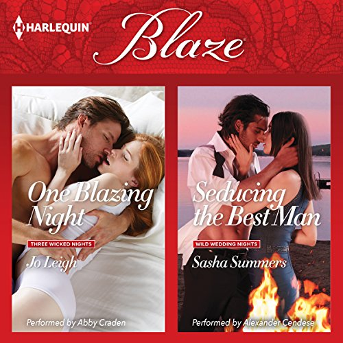 One Blazing Night & Seducing the Best Man audiobook cover art