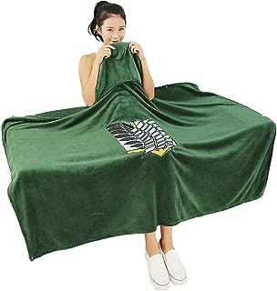 My Sky Anime Throw Blanket Flannel Fleece Blanket Cosplay Cloak Shawl Wrap Daily Nap Quilt (Attach ON Titan, 63x43 inch)