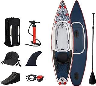 """Uppblåsbar Stand Up Paddle Board,SUP Surfboard Set,8""""tjock,kajakstol,för alla nivåer vuxna barn,med tillbehör luftpump,ryg..."""