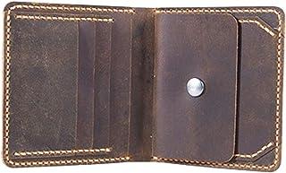 MagiDeal DIY Handmade Leather Short Wallet Kit Purse Credit Card Holder Kit Make Your Own Leather Wallet - Brown