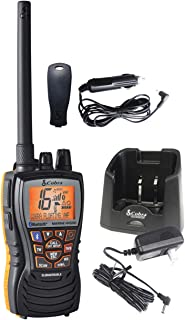 Cobra MR HH500 FLT BT -Hand Held Marine Radio, 6 Watt, Floating, VHF Radio,Bluetooth Wireless Technology, Rewind-Say-Again