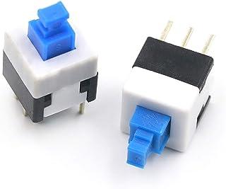 Lote de 10 interruptores de 6 x 6 x 7,5 mm 4 pines DIP PCB Fransande
