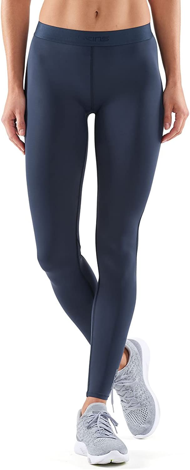 (M, Navy 青) - Skins Women's Dnamic Long Tights