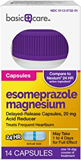 Basic Care Esomeprazole Magnesium Delayed-Release Capsules, 20 mg, 14 Count