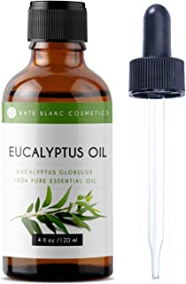 Eucalyptus Essential Oil by Kate Blanc, 100% Pure and Natural with Therapeutic Grade, Premium Quality, Great for Aromatherapy, 4 fl. Oz.