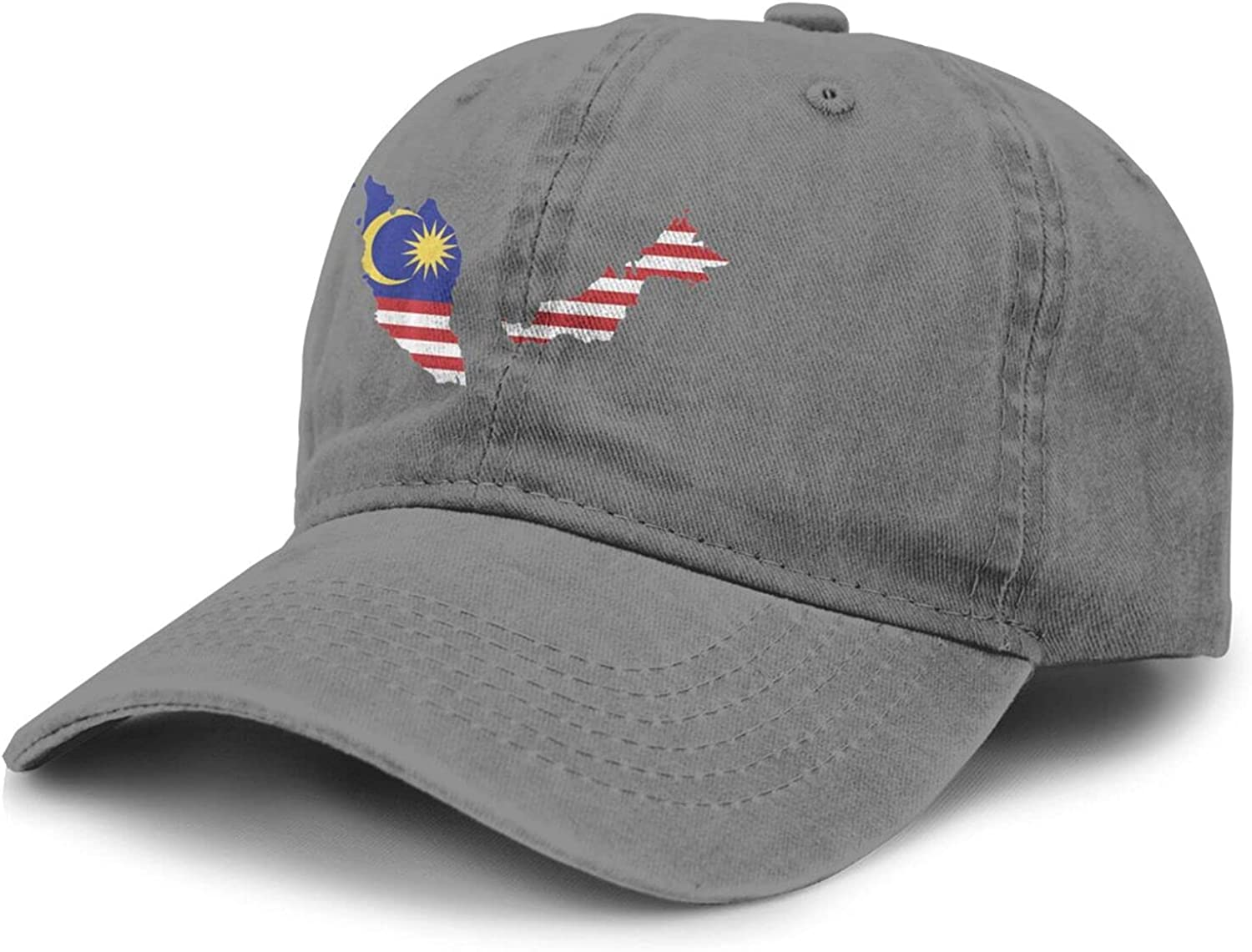 PARKNOTES Malaysia Flag Country of Asia Cheap and Durable Adult Cowboy Hat Unisex