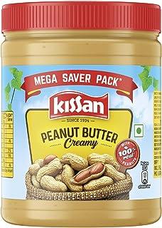 Kissan Creamy Peanut Butter | High Protein | Peanuts | Naturally Gluten Free, 920 g
