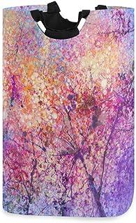 Mnsruu Panier à linge pliable avec poignées Motif fleurs de cerisier