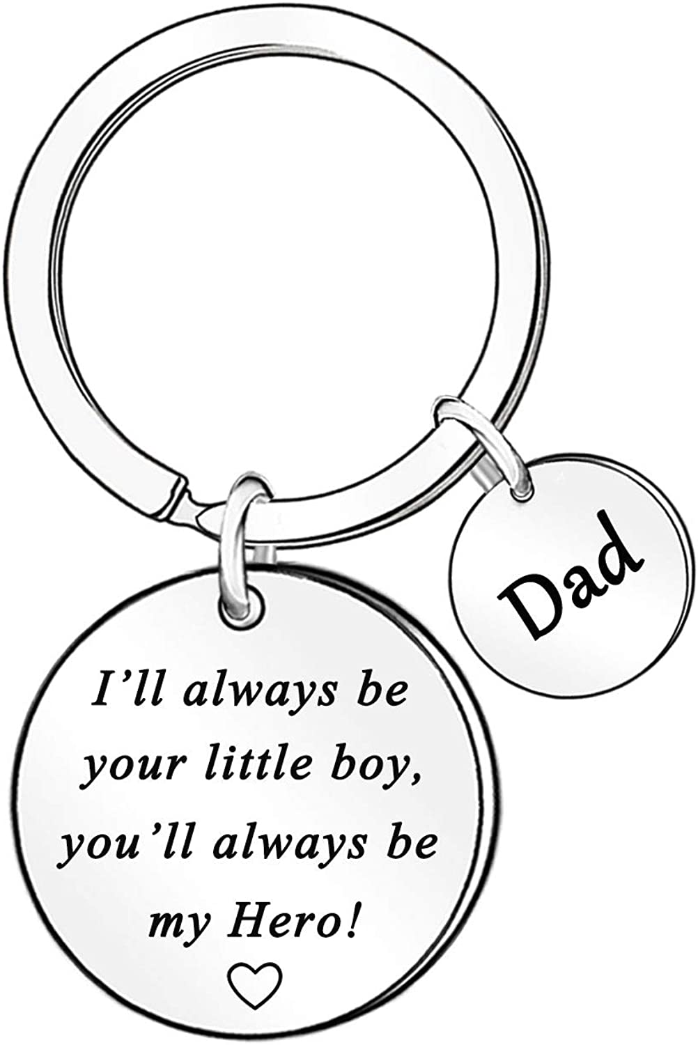 To My Dad Keychain Gift for Father Dad Papa Daddy Key Chain Father's Day Present