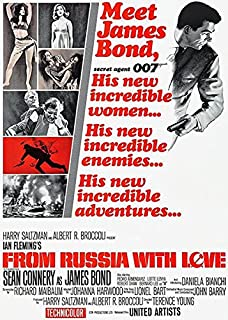 from Russia with Love - 1963 - Movie Poster