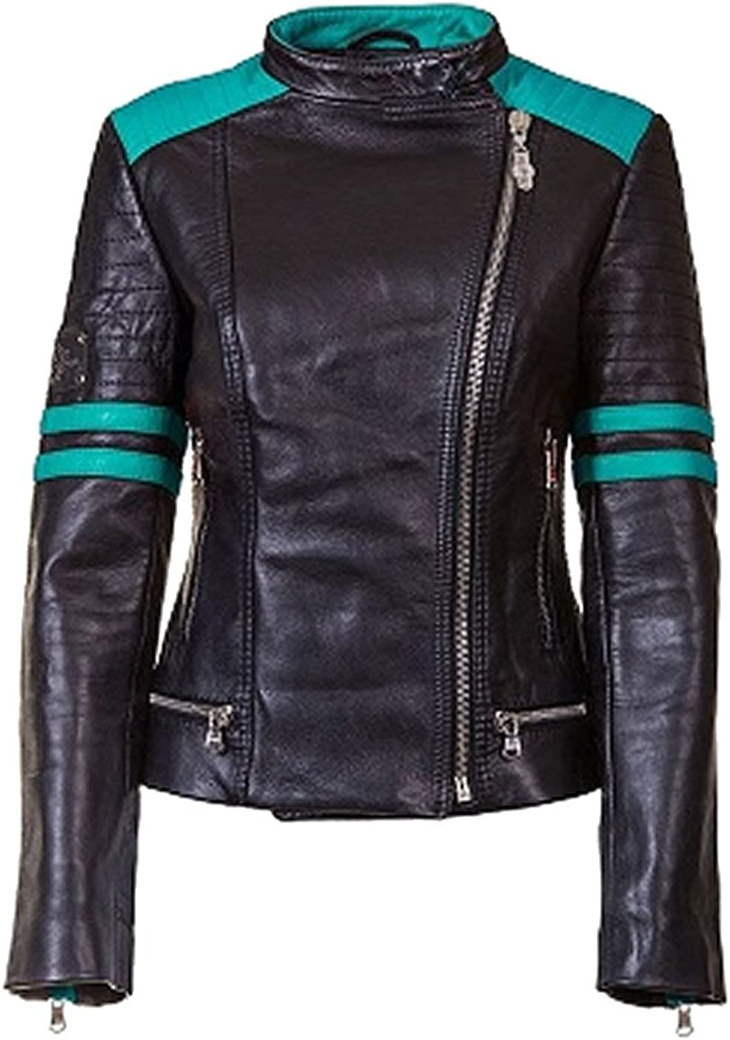 Classyak Women's Fashion Club Real Leather Jacket