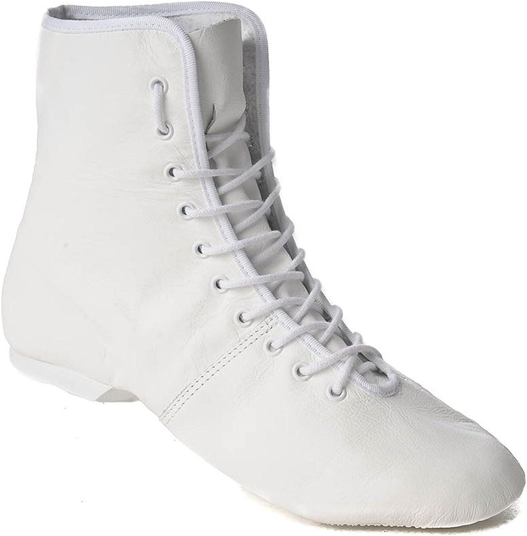 Rumpf 4125 Garde Karneval Folklore Tanz Stiefel Schuhe Geteilte Gummisohle Farben schwarz und wei