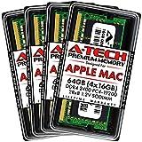 A-Tech 64GB (4x16GB) RAM for 2017 iMac 27 inch Retina 5K | DDR4 2400MHz PC4-19200 SO-DIMM 260-Pin CL17 1.2V Non-ECC Unbuffered Max Memory Upgrade Kit