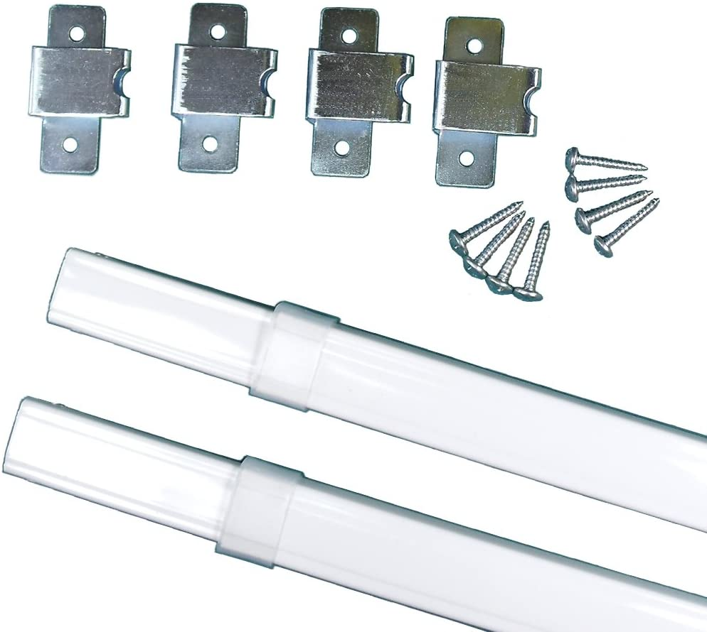 two kirsch flat sash rods for top bottom doors sidelights 18 28 6412 025
