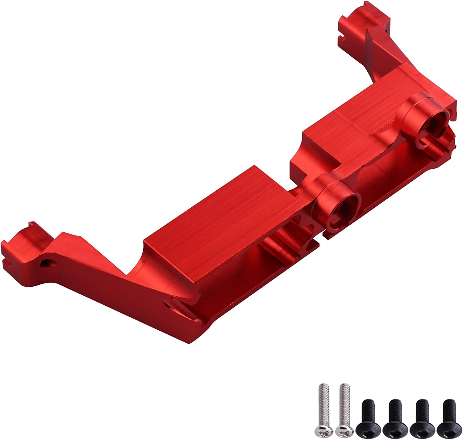 Hobbypark Aluminum Alloy Diff Transmission Locking Servo Mount for Traxxas TRX-4 Upgrades Parts Red