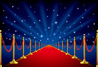 ERIC 7x5ft Red Carpet with Starry Vinyl Photography Backdrop Happy Birthday Backdrop for Pictures Children Backdrops Studio Prop FYNL-331
