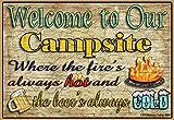 Blackwater Trading Kühlschrankmagnet mit Aufschrift Welcome to Our Campsite, 8,9 x 6,3 cm
