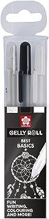 Sakura Gelly Roll Clear White Black, Set of 3 Pens
