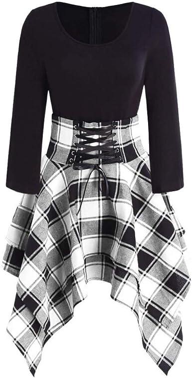 Vestido Falda Jumpsuit Vestido asimétrico con impresión ...