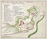Large Posters MAP 1759 Unknown KRISTIANSTEN Fort Trondheim