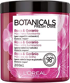 L'Oréal Paris Maschera Capelli Botanicals, Maschera per Capelli Colorati o Spenti, Rimedio di Brillantezza, Rosa e Gerani...