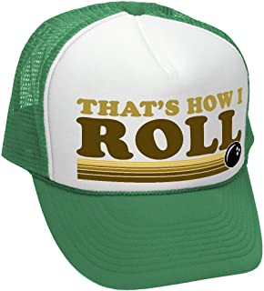 That s How I ROLL - Bowling Retro Vintage Style - Unisex Adult Trucker Cap  Hat 2cdf71ee8826