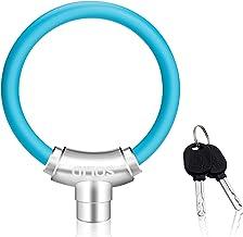 auvstar Mini candado para candado de Bicicleta,candado Patinete, para Bicicleta Candado de Cadena Candado Universal Mini candado de Cable portátil para Patinetes eléctricos