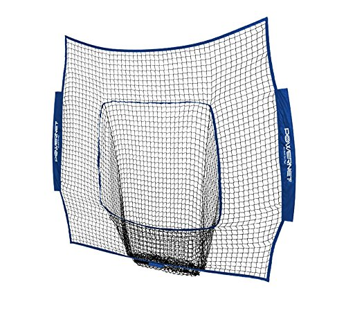 PowerNet Team Color Nets Baseball and Softball 7x7 Bow Style (NET ONLY) Replacement | Heavy Duty Knotless | Durable PU Coated Polyester | Double Stitched Seams for Extra Strength (Royal Blue)