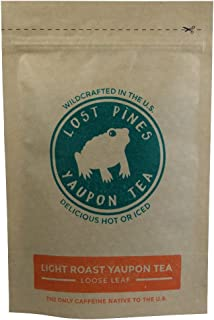 1 oz Light Roast Yaupon Tea (loose leaf) - Lost Pines Yaupon Tea - Sustainably wild harvested yaupon, the only caffeinated plant native to North America