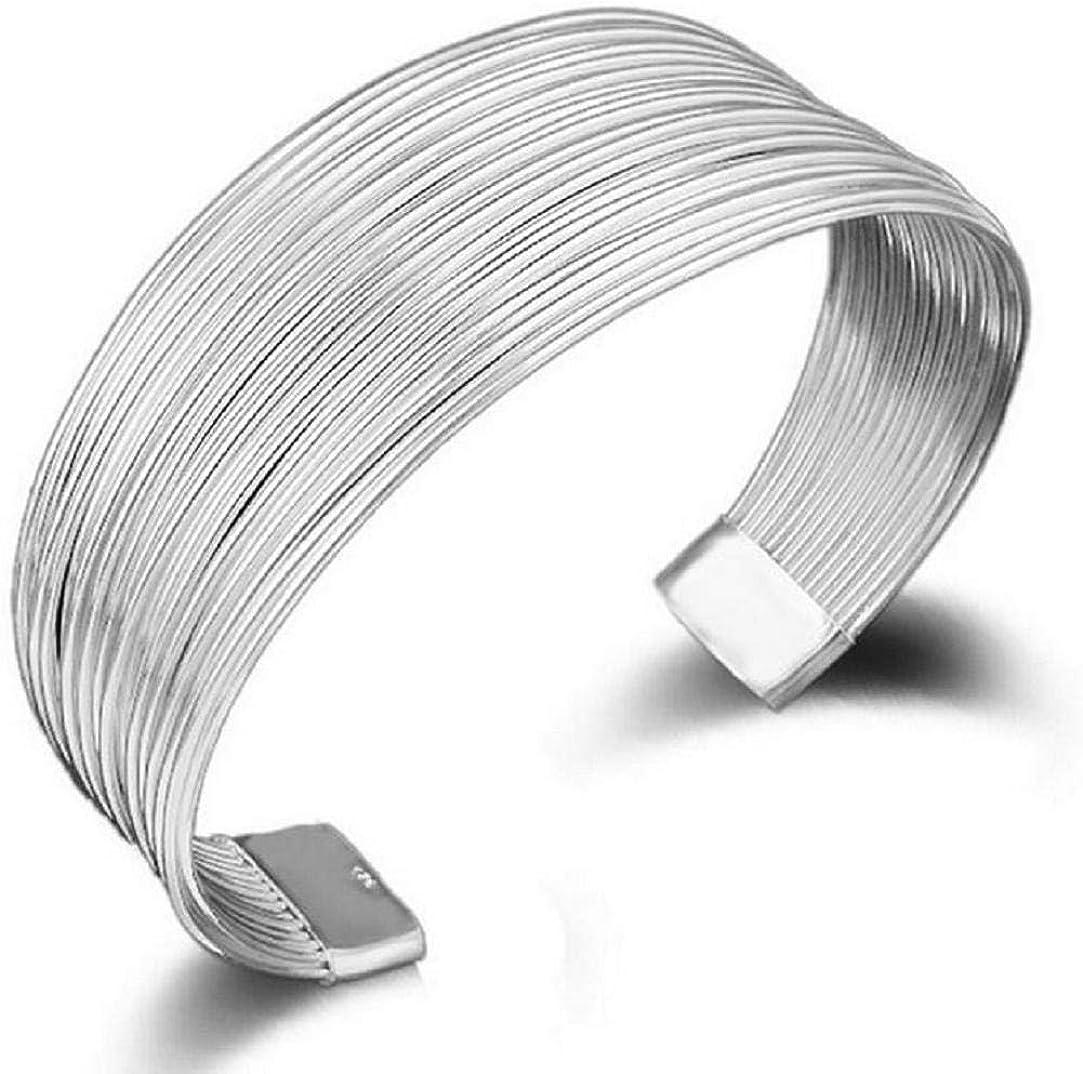 TOPOB Fashion Women's Max 88% OFF Bracelet Manufacturer direct delivery Silv Charm 1X Multi-line