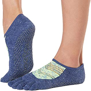 87b91514f1b Toesox Grip Pilates Barre Socks-Non Slip Luna Full Toe for Yoga & Ballet,