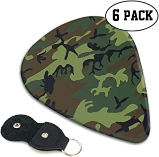 Hhill Swater Camouflage Guitar Picks (6 Pieces) Acoustic Guitar Guitar Accessories