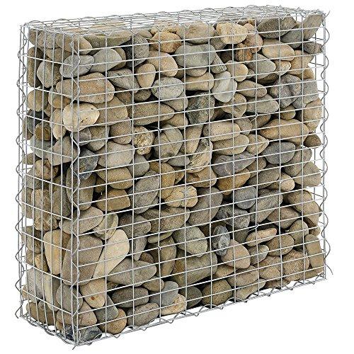 [pro.tec] Gavión 100 x 30 x 90 cm Cesta de Piedras Banco de jardín Valla Alambre galvanizado