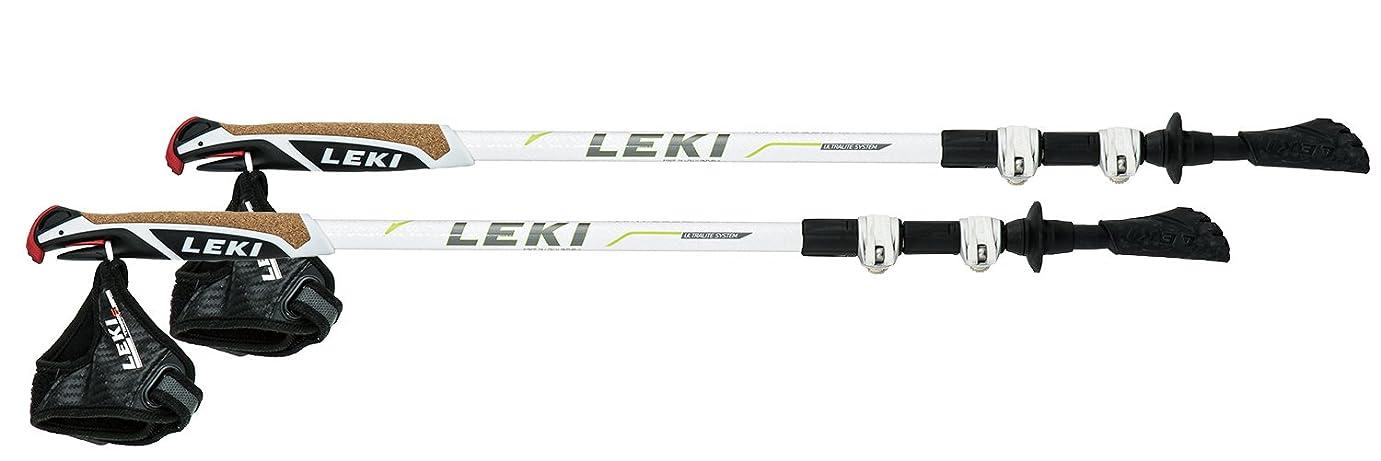蘇生する残忍な受粉するLEKI(レキ) 登山 トレッキングポール トラベラー ショート TS2 ホワイト 1300333