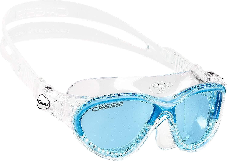 (Clear blueee) - Cressi MINI COBRA Schwimmbrille Kinder, Made in