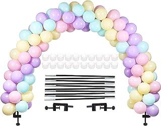 comprar comparacion LANGXUN Kit de Arco de Globo Negro, Kit de Arco de Arco semicircular de Globo 2 Clips Ajustables para Diferentes tamaños d...