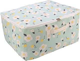 HOKIPO® Moisture Resistant Blanket Cover Bag Large Size Clothes Storage Organizer Bag, 52 X 44 X 25 cm, Green