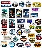 makstore Juego de 52 pegatinas de vinilo vintage para portátil, coche, moto, bicicleta, graffiti,...