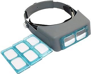 Lupas de Lectura HD Diadema con Lupa, Joyas Sombrilla Lupa Binocular De Vidrio Óptico con Lente -1.5X 2X 2.5X 3.5 Veces Aumento