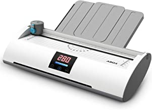 ABOX Laminator Machine Pixseal Ⅱ, A4 Thermal Laminating Machine with Feeding Tray, Trimmer, Corner Rounder, 20 Laminating ...