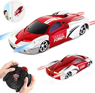 SOWOW RC Remote Control Car Rechargeable Wall Climbing Cars 360°Rotating USB Race Toy Cars with LED Light Wall Stunt Climber Racing Car for Kid Best Gifts for Adult and Kids