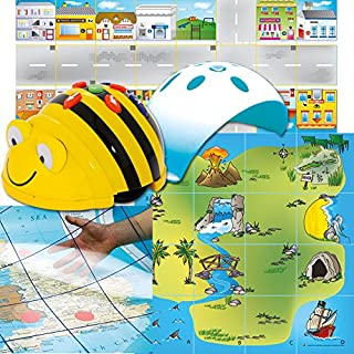 Bee-Bot TTS Group Starter Set Helps to Teach Algorithms   Improve Directional Language and Programming Skills   Handy Storage Solution & Sequence Cards
