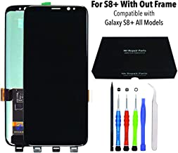 Mr Repair Parts Premium Galaxy S8+ Plus Black AMOLED 3D Touch HDR10 Display Screen Digitizer Assembly Replacement + Repair Tools + 9H Tempered Glass Screen Protector + Waterproof Frame Adhesive