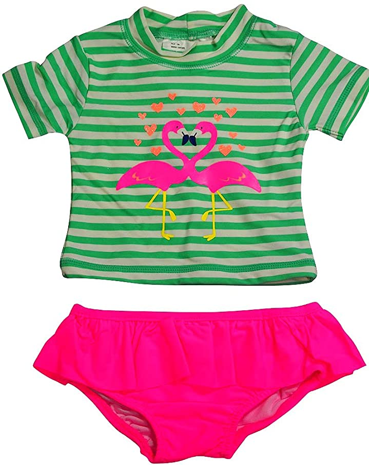 Carter's Baby Girls 2PC Short Sleeve Rashguard Swim Set