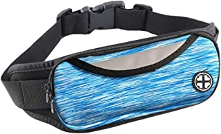 LivebyCare Waterproof Fanny Pack, Running Sling Belt Waist Lightweight Pockets Bag with Adjustable Band for Man Women Unisex Workout Vacation Hiking Runner Walking Cycling Sporting Pouch